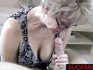 milf takes over a cook jerking