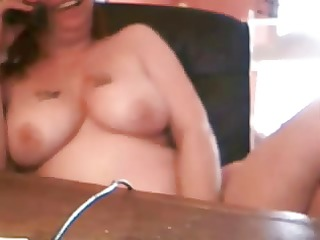 naughty mum caught masturbating at telephone