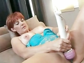 red hot momma calliste pounds her wet crack with