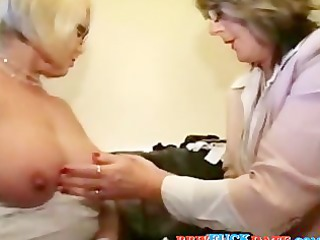 two big beautiful woman lesbo grandmothers playing
