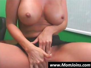 youthful slim dark brown with her mamma acquires