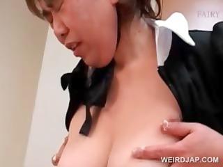 slutty oriental aged maiden receives shaggy cunt