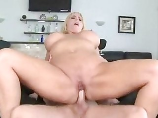 chubby blond momma with biggest milk cans gets