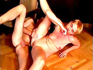 dirty grandma receives her taut gazoo drilled