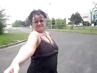 older outdoor curvy big beautiful woman