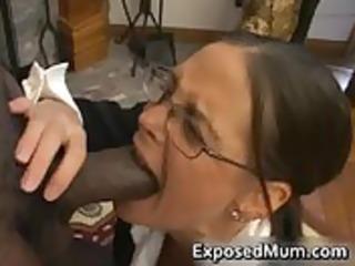 sexy mother i in glasses deepthroating dark