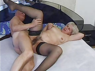 granny reward 34 hairy older with a old fellow