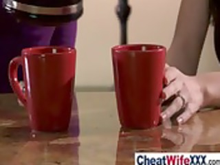 breasty cheating wifes receive hardcore sex