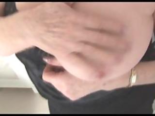 breasty hairy granny upskirt tease