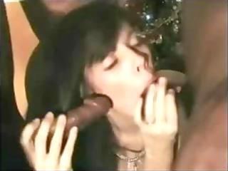 dark brown french wife marion is in a team fuck