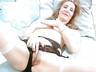 lewd older in underware finger masturbation