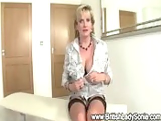 aged blond lady sonia gettings off with a back