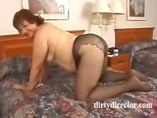 way-out bulky granny anal fucking