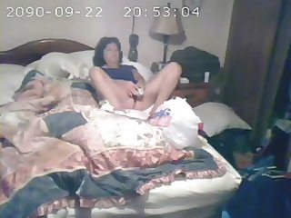 hidden web camera catches mummy masturbating
