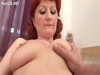 hirsute redhead granny