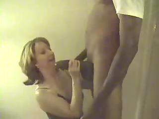 white wife engulfing biggest black pecker