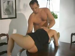breasty golden-haired d like to fuck eats his rod
