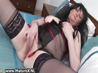 granny in hawt black lingerie can part7