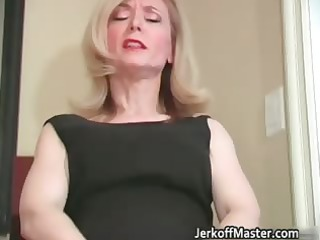 lustful blonde mum with large hooters part7