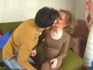 sexy aged mother entice a youthful guy and