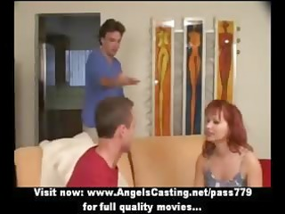 redhead d like to fuck as bride does oral for