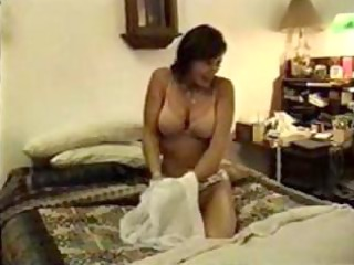 breasty wife positions and polishes husbands shaft