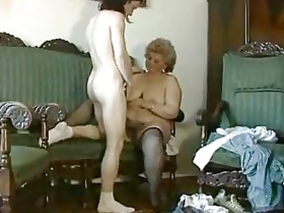 obese blond granny with hirsute slit