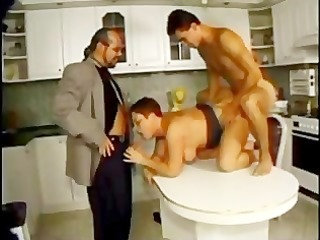 Hot Plump German Mum Gets a DP in the kitchen