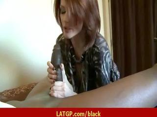 Milf babe like it big black cock super