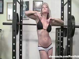 older blond gym instruction