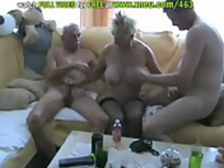 blonde granny in nylons has a some with bi sexual