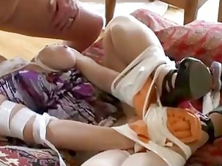 bound up milf acquires drilled in outlandish way