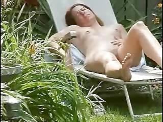spying my cute mamma masturbating in court yard