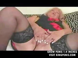 chubby granny in nylons copulates part2