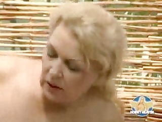 blonde german mother with bazookas fucking