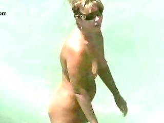 bare beach mature voyeur