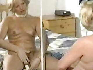shaggy mature slow tease and vibrator play