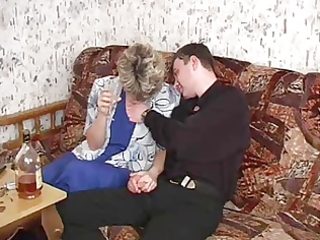 russian mom 104 aged with a youthful dude