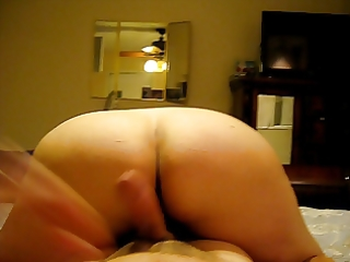 wifes large white arse riding reverse cowgirl