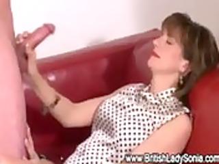 aged stocking oral pleasure ejaculation