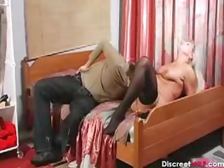 russian older housewife and boy
