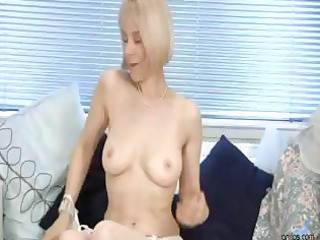 slutty granny cucumber pussy penetration