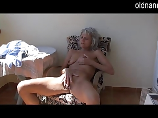 wicked aged older masturbating with toy