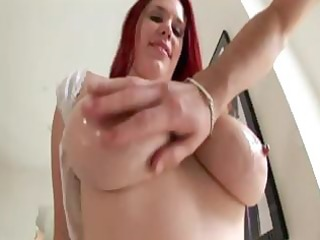redheaded mother i with biggest knockers plays