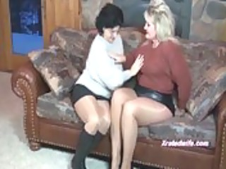 milfs in sweaters fuck every other with ding-dong