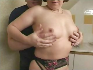 brunette british granny is getting fingered and