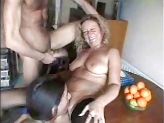 mature harlots love three-some worthy group sex
