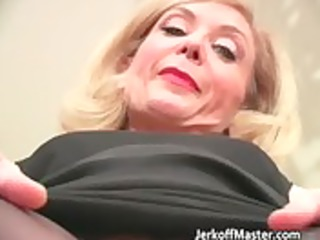 lewd blonde mum with large hooters