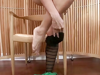 hot mother i in pantyhose disrobes and masturbates