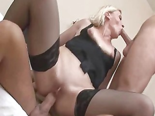 perverted aged blonde in wild groupsex!